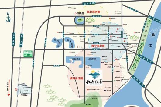 南山汇景交通图