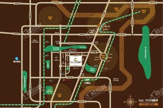 盘龙中央广场交通图