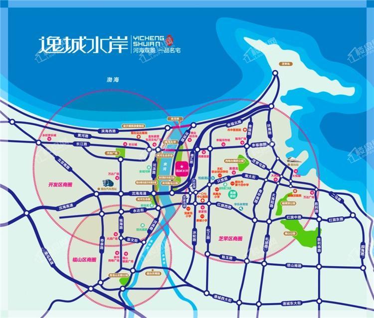逸城水岸位置图