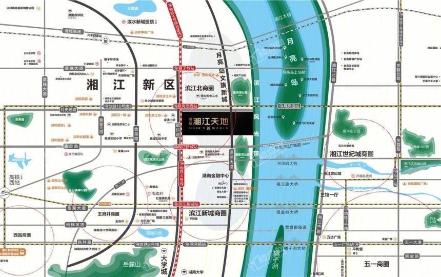 润和湘江天地位置图