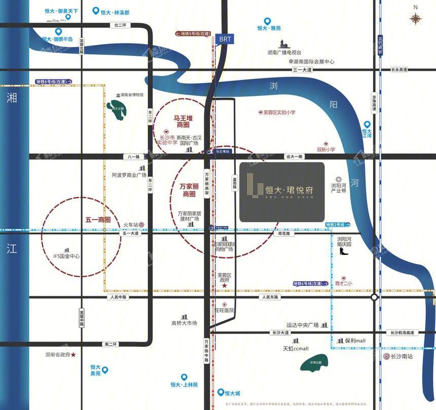 长沙恒大珺悦府位置图