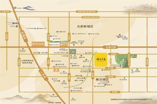 蓝光·雅居乐雍锦半岛交通图