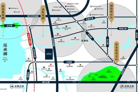 水畔华庭交通图