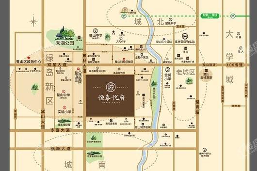 恒泰悦府交通图