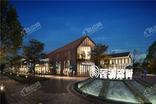 北大资源莲湖锦城项目商业街夜景
