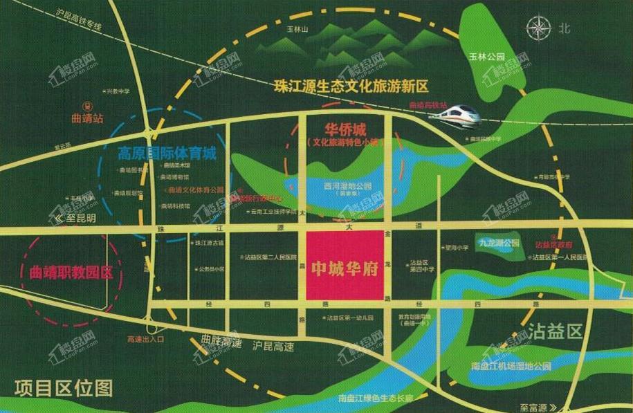 中城华府位置图