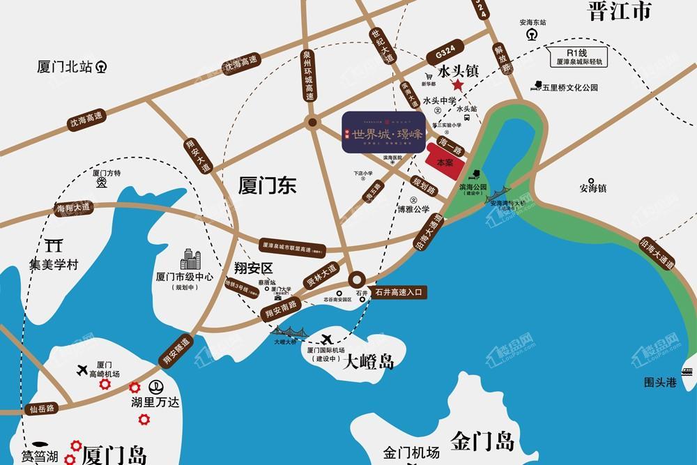中骏世界城璟峰位置图