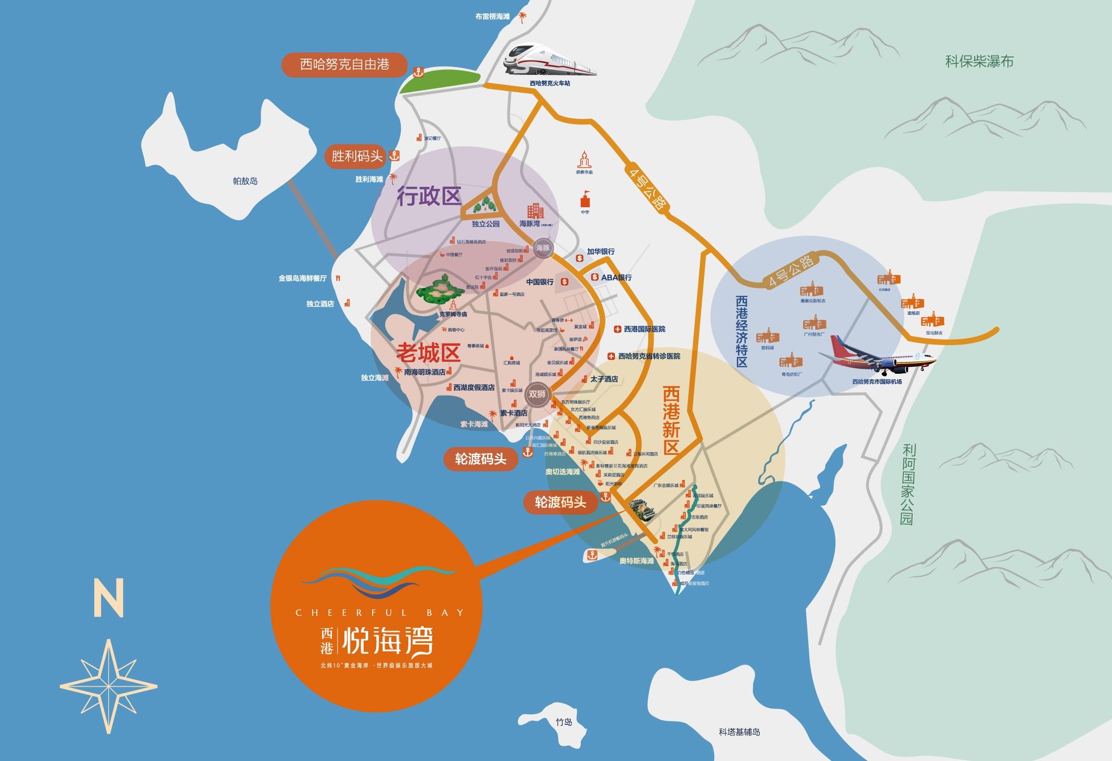 西港悦海湾位置图