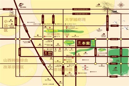 台商·書语郡交通图