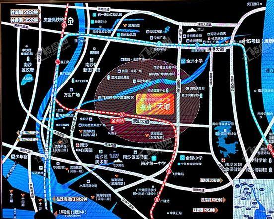 越秀国际总部广场位置图