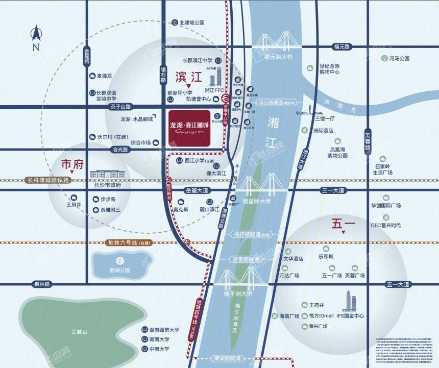 龙湖·春江郦城位置图