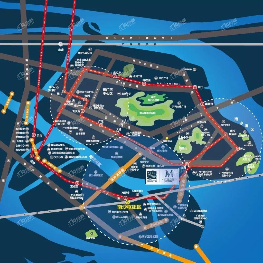 南沙珠江湾位置图