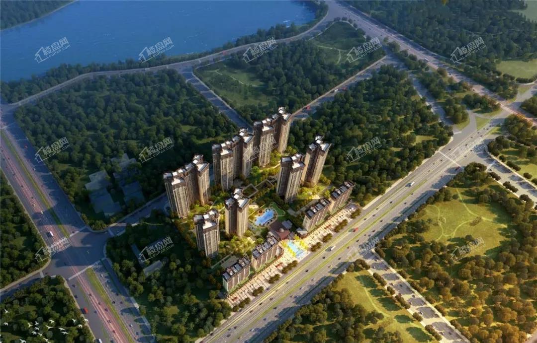 合浦山湖海上城鸟瞰图