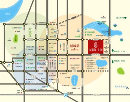 合浦山湖海上城区位图