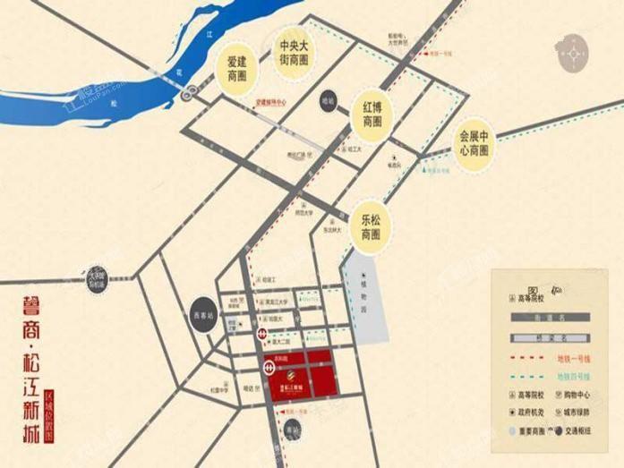 鲁商松江新城位置图