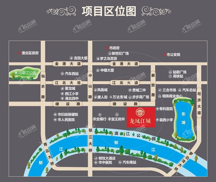 龙凤江城位置图