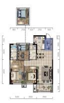 华润翡翠城熙府高层115平三室两厅两卫