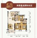 2-C户型 三房两厅两卫 101.03㎡