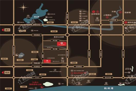 中天·熙和诚品交通图