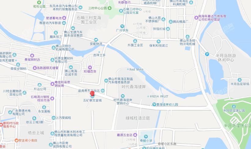 五矿崇文金城位置图