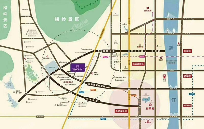 阳光城丽景湾位置图