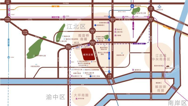 招商·城市主场位置图