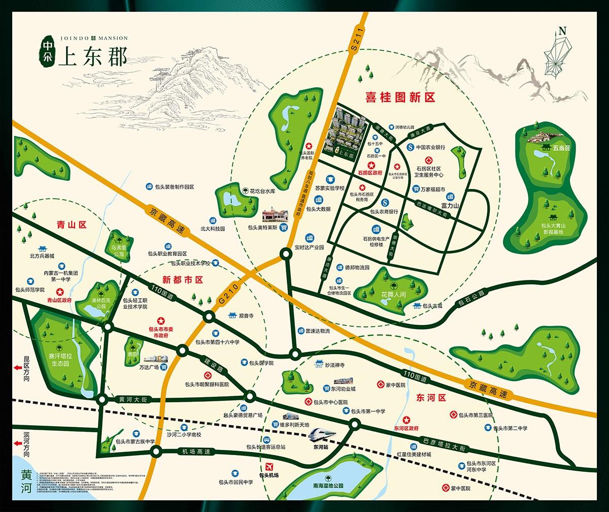 中朵·上东郡位置图