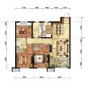 金地樾檀山高层115平3室2厅2卫