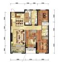 金地樾檀山高层134平3室2厅2卫