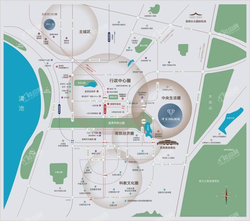 昆明金茂国际新城位置图