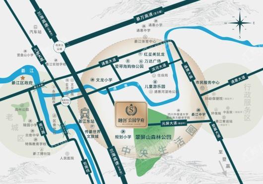 融创公园学府项目区位图
