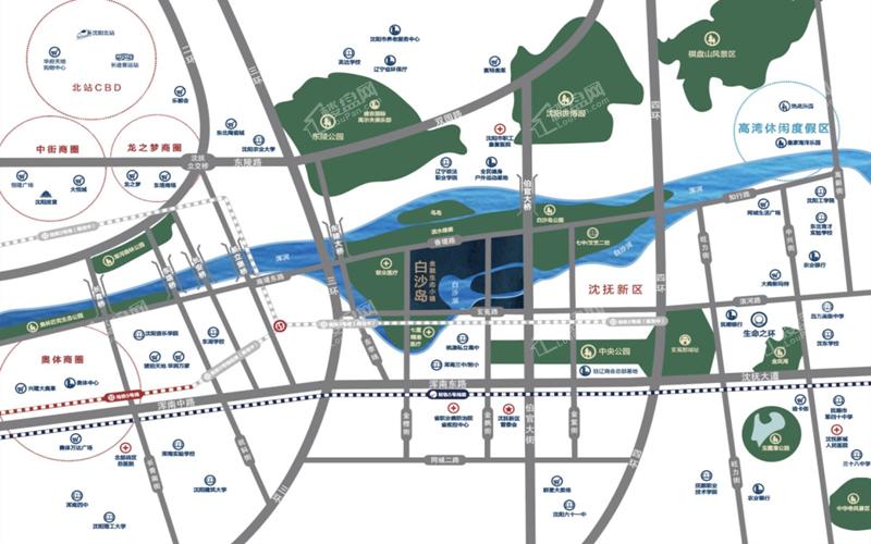 白沙岛金融生态小镇位置图