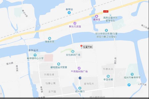 红星天铂(铂悦府)位置图