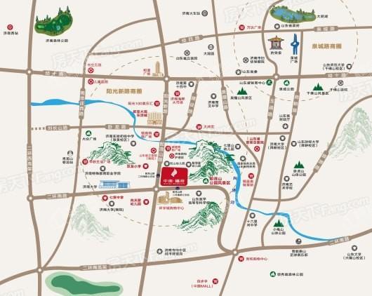 中南·樾府交通图