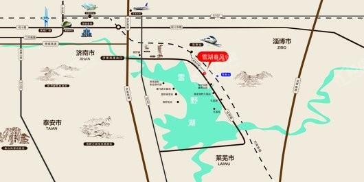 雪湖春风交通图