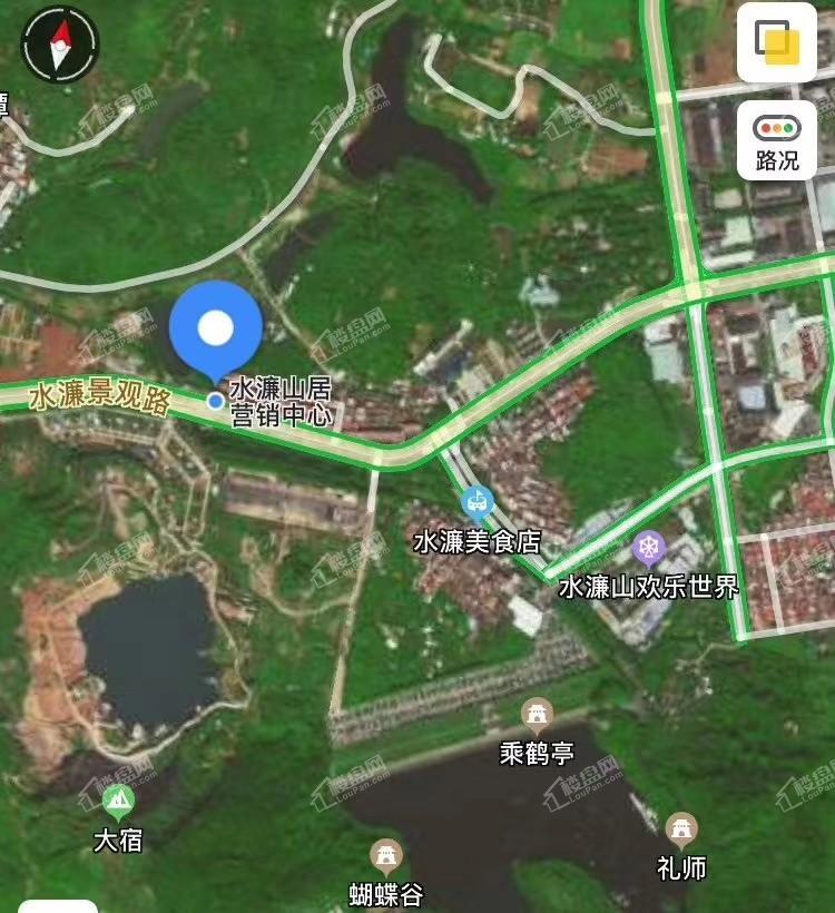 水濂山居位置图