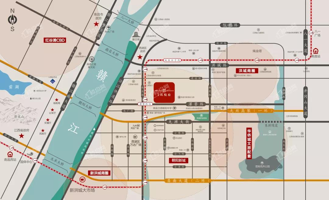 南水玖悦府位置图