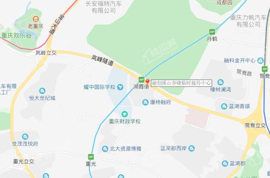 融创溪山春晓交通图