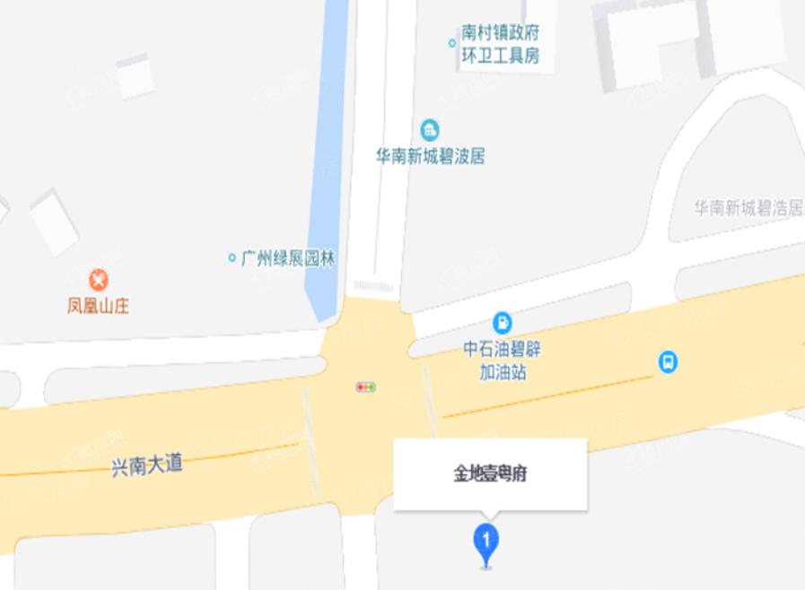 金地壹粤府位置图