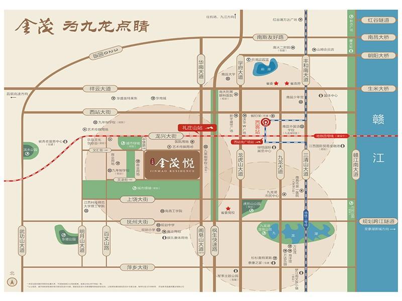 九龙湖金茂悦位置图