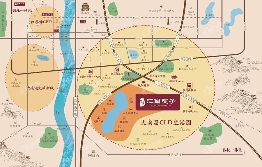 泰禾江南院子位置图