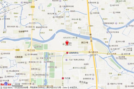 瀚蓝广场交通图