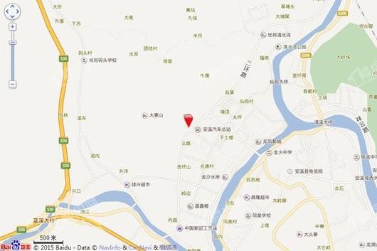 安溪弘桥世界城交通图