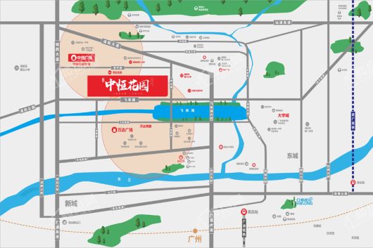 中恒花园交通图