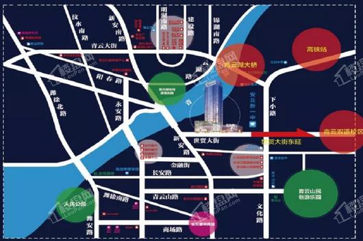 世贸·尚水名邸交通图