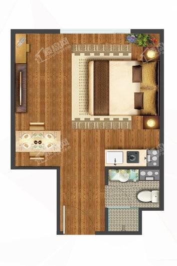 万华·百合公寓户型图