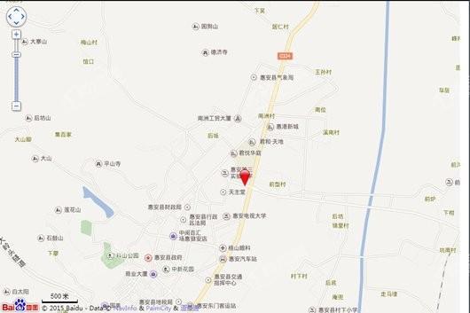 惠安阳光城市花园交通图