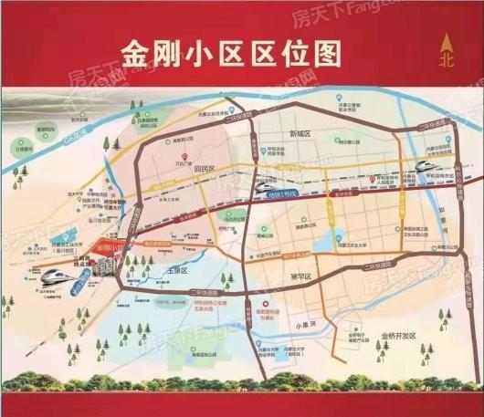 金刚小区交通图
