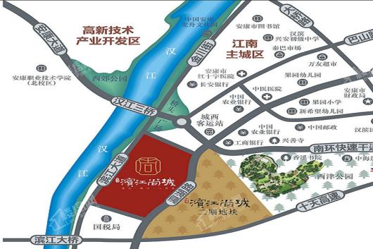滨江尚城交通图
