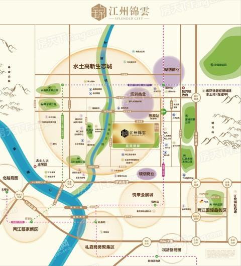 江州锦云交通图